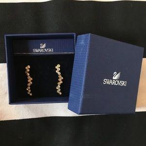 Swarovski Gold Fidelity Drop Earrings